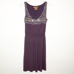 Tory Burch Burgundy Embellished Dress Sz. S